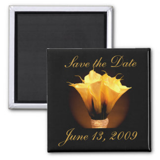 Customize your own calla lily save the date magnet