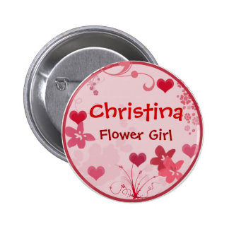 Customize your own flower girl button - template