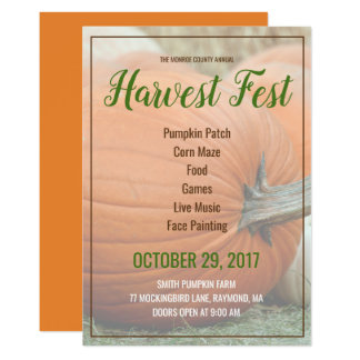 Customize Your Own Harvest Fest Pumpkin Invitation