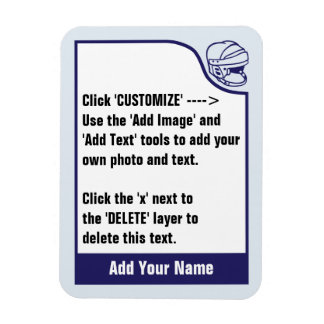 Customize Your Own Hockey Trading Card Magnet