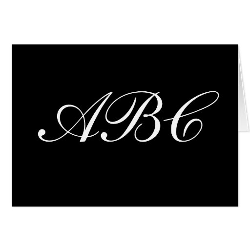 Customize your own monogram cards