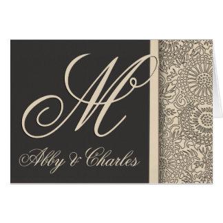 Customize your own monogram wedding card
