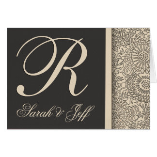 Customize your own monogram wedding greeting card
