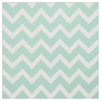 Customize your own pastel mint chevron pattern fabric