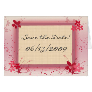 Customize your own Save the Date Greeting Card