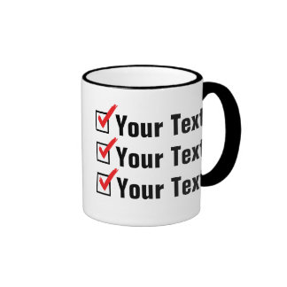 Customize Your Own Status - Personal Ad Ringer Mug