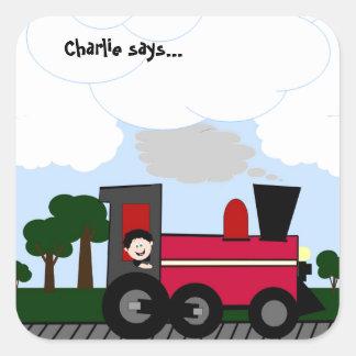 Customize Your Train Square Sticker