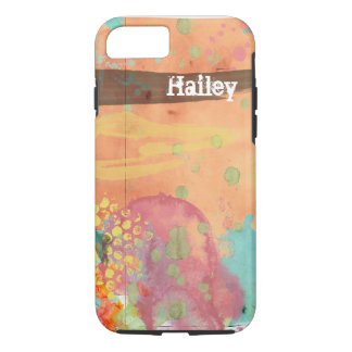 Customize your watercolor painted style phone case