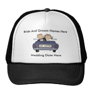 Customize Yourself Just Married Baseball Cap/Hat