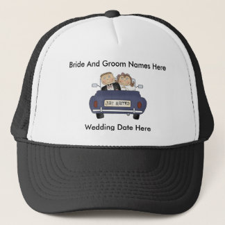 Customize Yourself Just Married Baseball Cap/Hat Trucker Hat