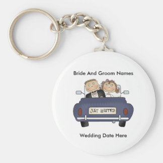 Customize Yourself Just Married Keychain