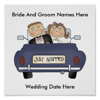Customize Yourself Just Married Poster