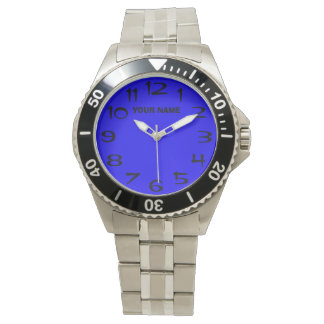 Customizeable Blue and Your Name Watch