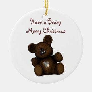 Customizeable Christmas ornament Teddy Bear