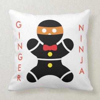 Customizeable Ginger Ninja Throw Pillow