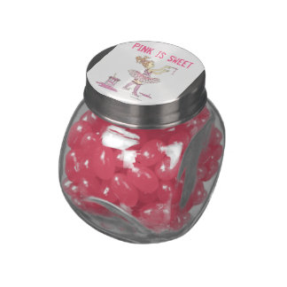 Customizeable glass jar filled with jelly bellys