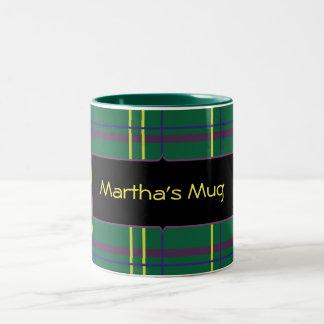 Customizeable Plaid Mug