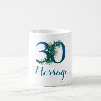 Customized 30th Wedding Anniversary text mug