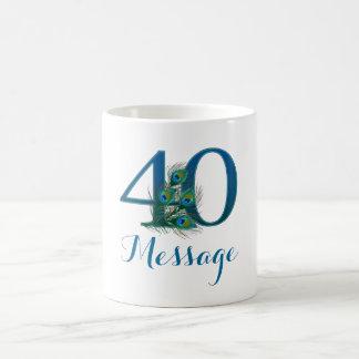 customized 40th Wedding Anniversary add text mug