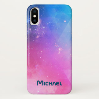 Customized Abstract Geometric Sky Galaxy iPhone X Case