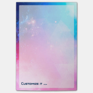 Customized Abstract Geometric Sky Galaxy Post-it Notes