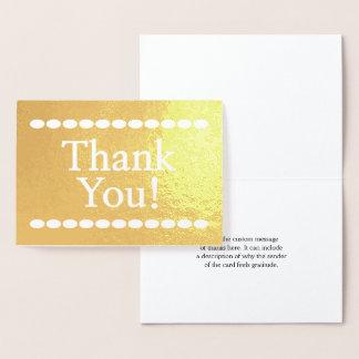 "Customized, Basic & Simple ""Thank You!"" Card"
