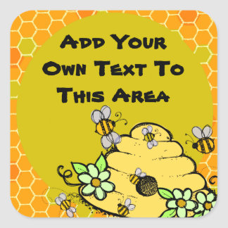 Customized Beehive and Bees Sticker