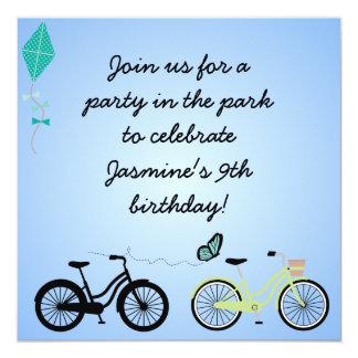 Customized Bicycles Birthday Invites