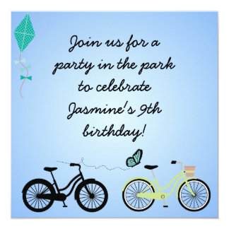 Customized Bicycles Birthday Invites