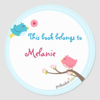 Customized Birdie Stickers Book