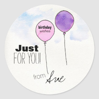 Customized Birthday Wishes Stickers
