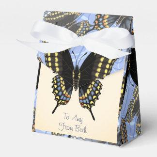 Customized Black Swallowtail Favour Box