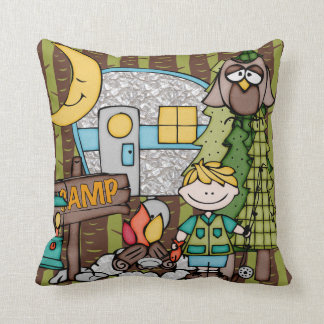 Customized Blond Boy Camping Pillow