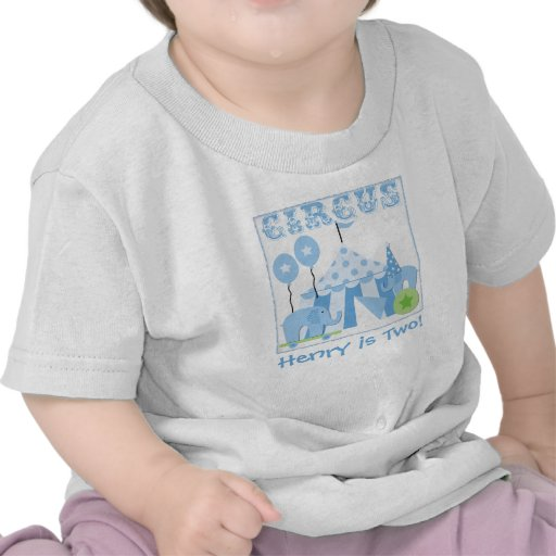 Customized Blue Step Right Up Circus Tshirt
