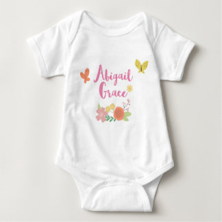 Customized Body Suit Abigail Grace Baby Bodysuit