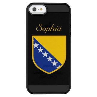 Customized Bosnia Flag Clear iPhone SE/5/5s Case