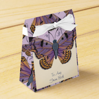 Customized Boulder Copper Butterfly Swirl Favour Box
