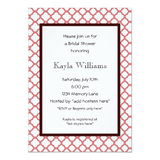 Customized Bridal Shower Invitation