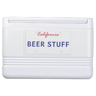 Customized Cali License Plate Cooler