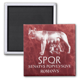 Customized Capitoline She-Wolf Square Magnet