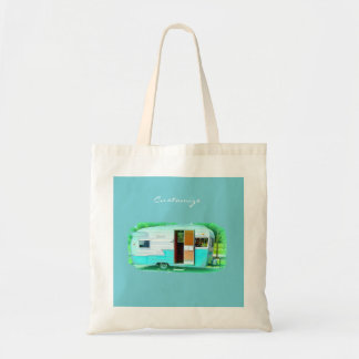 Customized caravan Vintage camper Tote Bag