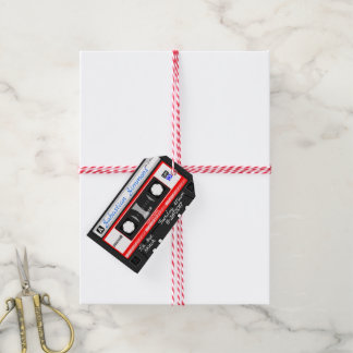 Customized Cassette Tape Birth or Any Day Blanket Gift Tags
