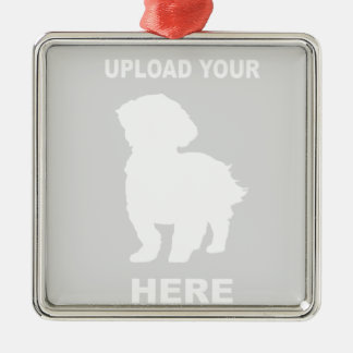 Customized Cavachon Ornament, Pet Photo Metal Ornament