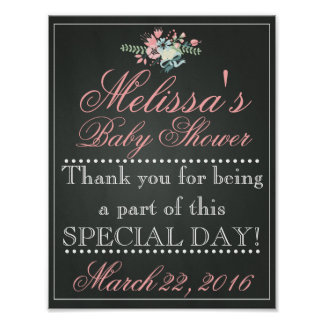Customized Chalk Baby Shower Sign, Welcome Poster