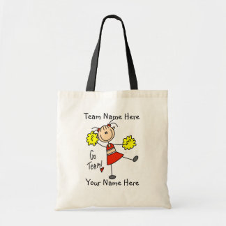 Customized Cheerleader Go Team  Tote Bag