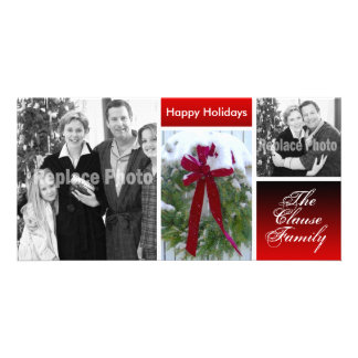 Customized Christmas Cards Holiday Photo Template Photo Cards