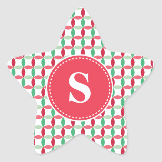 Customized Christmas Modern Pattern Star Sticker