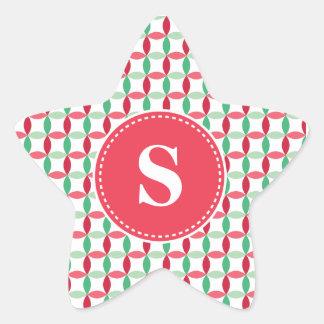 Customized Christmas Modern Pattern Star Sticker