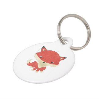 Customized Cute Baby Fox Pet Tag