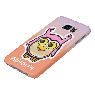 Customized Cute Baby Owl Cartoon Samsung Galaxy S6 Cases